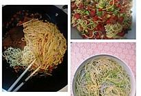 红椒四季豆拌面的做法