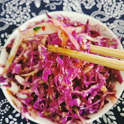东北拌菜之紫甘蓝
