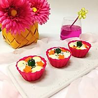 米饭秋葵鸡蛋杯