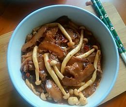 肉末双菇的做法