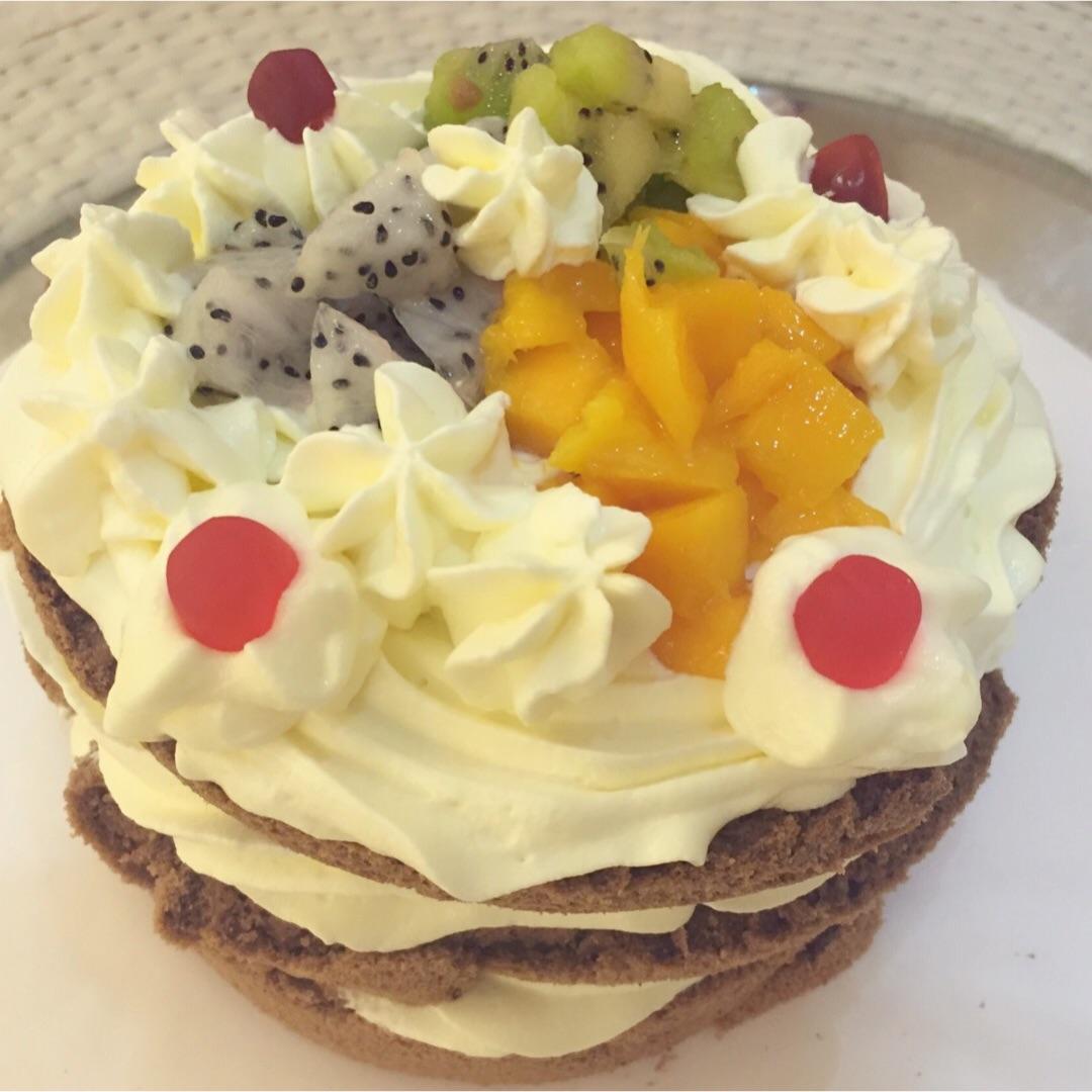 欧式水果六寸蛋糕图片