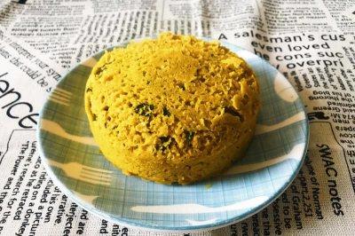 微波炉食谱:燕麦南瓜椰香快手蛋糕