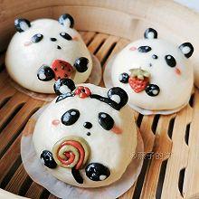 【蒸】熊猫胖达奶黄奶酪包