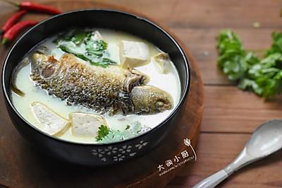 奶白通乳鲫鱼汤-让汤色奶白的好方法#非常规创意吃鱼法#