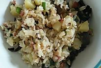 香菇腊肠饭(配菜可自选多样)的做法