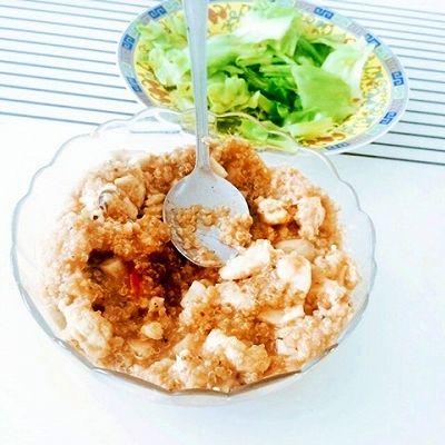 鸡胸肉草菇藜麦饭