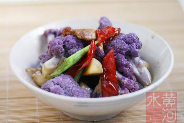 干煸紫花菜的做法
