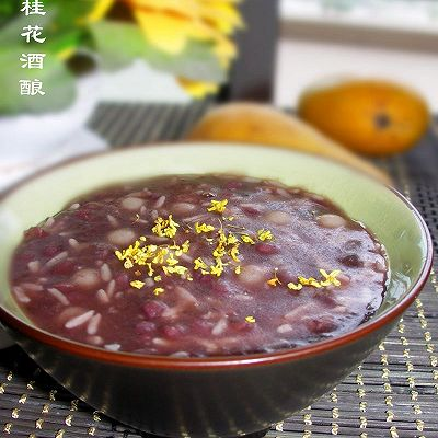 赤豆桂花酒酿小元宵