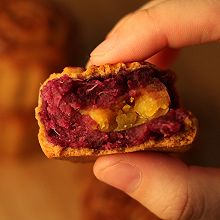 【零基础】紫薯蛋黄月饼
