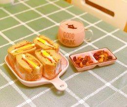 #精品菜谱挑战赛#低卡饱腹三明治-黎麦酸奶吐司的做法
