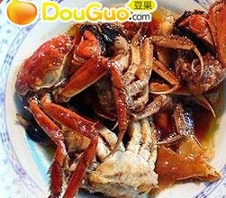 葱姜炒河蟹的做法