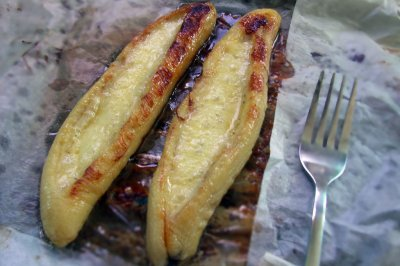 香蕉新吃法--奶酪烤香蕉