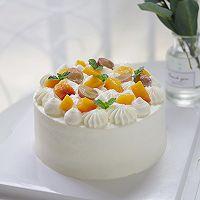 小清新 | 新鲜黄桃水果戚风蛋糕的做法图解17