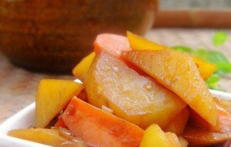 土豆炖萝卜的做法