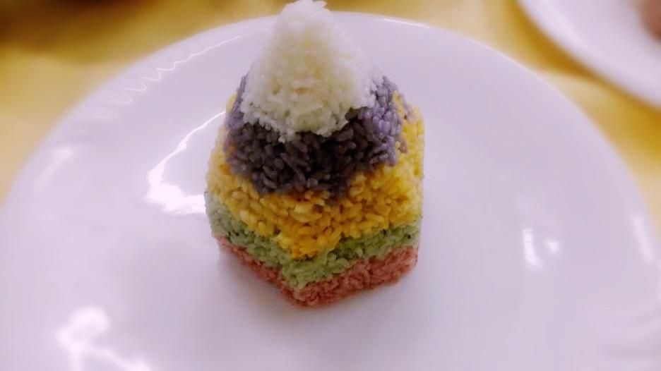 宝塔饭配鲜虾培根卷#福临门创意米厨#的做法图解5