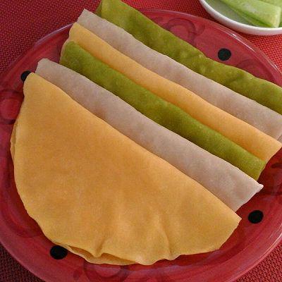 三色春饼荷叶蒸饼