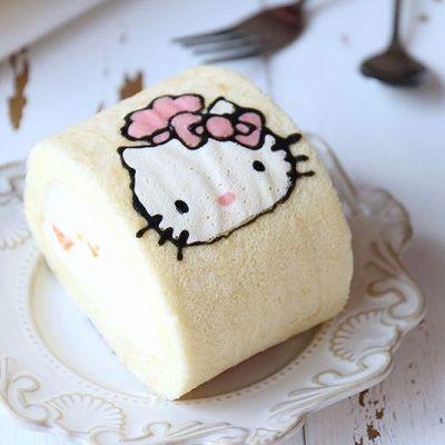 hellokitty彩绘蛋糕卷: