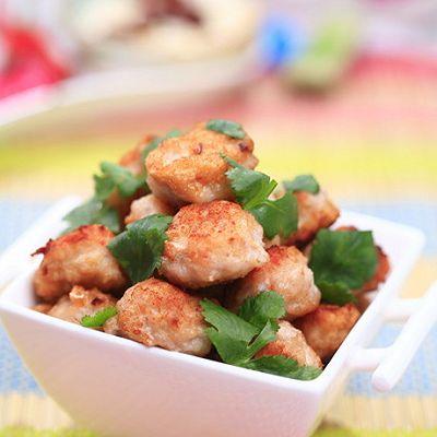 香煎虾肉丸子