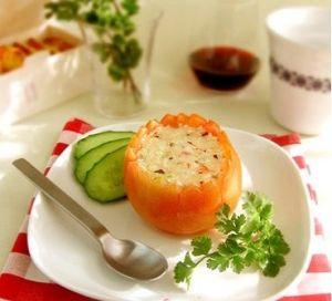 奶酪香烤番茄盅_咖喱奶酪焗饭_咖喱奶酪