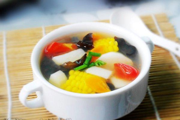 山药鲜蔬汤的做法