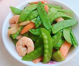 荷兰豆炒虾仁的做法