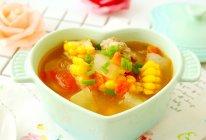 玉米番茄排骨汤的做法