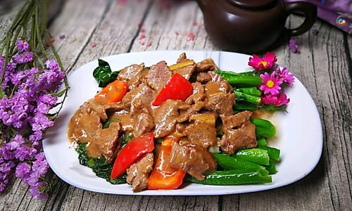 潮汕家乡菜——沙茶牛肉炒芥兰,不能忘却的味道的做法