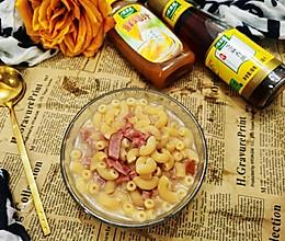 #太太乐鲜鸡汁芝麻香油#鸡汁芝麻油火腿粒意粉的做法