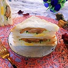 #秋天怎么吃#雞腿蛋三明治