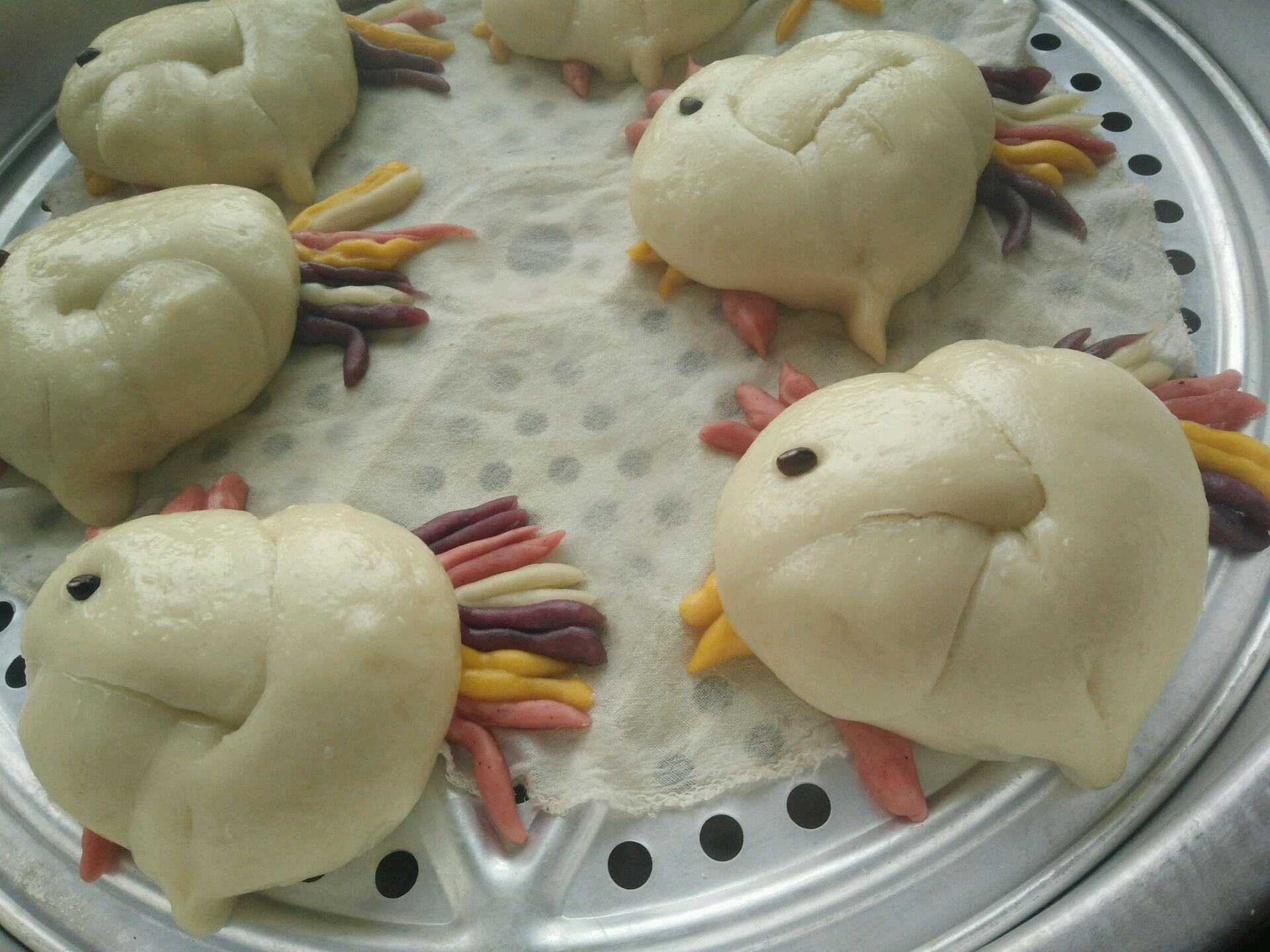 南瓜紫薯小鸡五彩花样面食的做法图解22