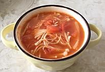 金针菇番茄汤的做法
