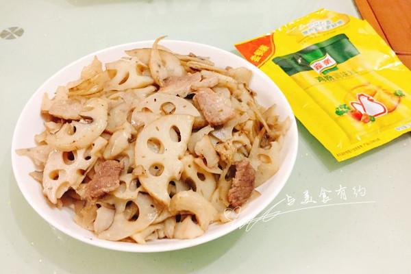 莲藕炒肉#鲜有赞,爱有伴#的做法