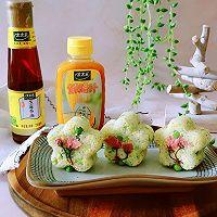 豌豆汁心饭团 太太乐鲜鸡汁蒸鸡原汤的做法图解19