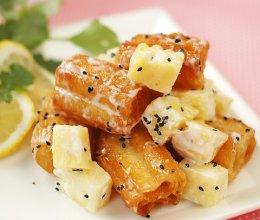 菠萝油条虾的做法