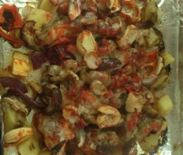 黑胡椒烤鸡腿肉的做法