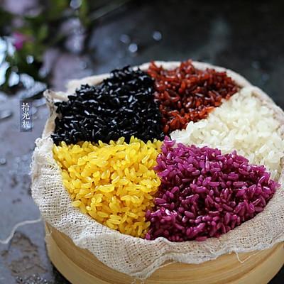 解密壮族天然五色糯米饭做法