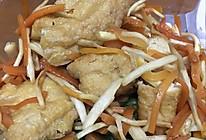 胡萝卜茭白丝炒豆泡的做法