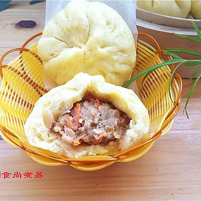 详细分享包子的做法【南瓜菜肉包】