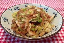 圆白菜素炒饼的做法