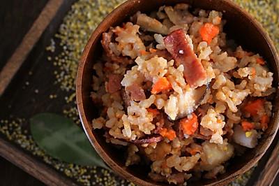 回味无穷的香菇芋头培根炊饭
