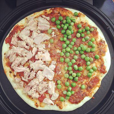 利仁电饼铛试用——海陆双拼披萨(附薄饼底与披萨酱制作)的做法 步骤10