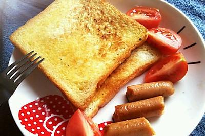 十分钟的快捷早餐 黄油面包片