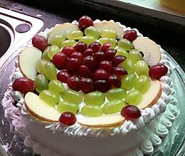 今是自己生日做个蛋糕给自己哈:-D哈:-D的做法