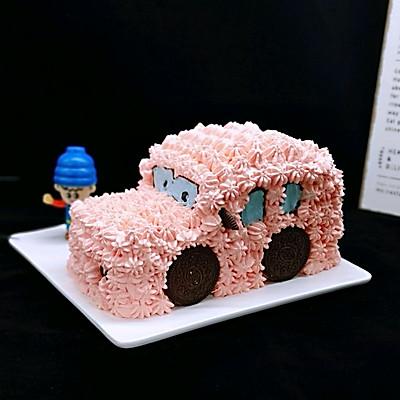 卡通小汽车蛋糕