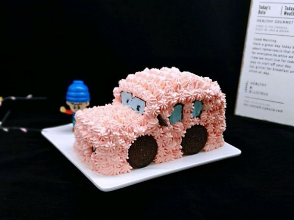#多力金牌大厨带回家-北京站#卡通小汽车蛋糕的做法