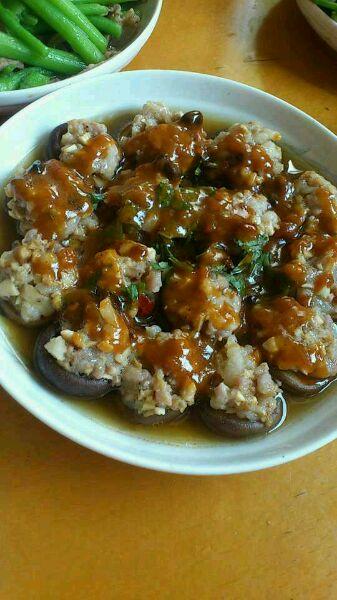 图解 香菇/8. 出锅洒些藿香叶或葱末或香菜