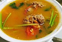 西红柿牛肉丸子汤的做法