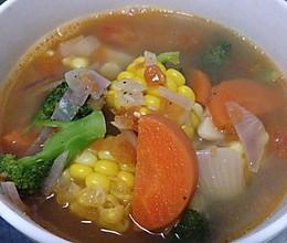 超简易大补维生素蔬菜汤的做法