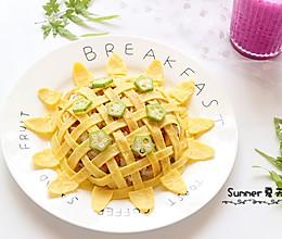 早餐小时光~向日葵蛋包饭的做法