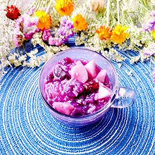 #换着花样吃早餐#养生【紫薯山药粥】